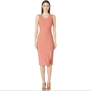 NWT Yigal Azrouel Sleeveless Stretch Dress Coral 8